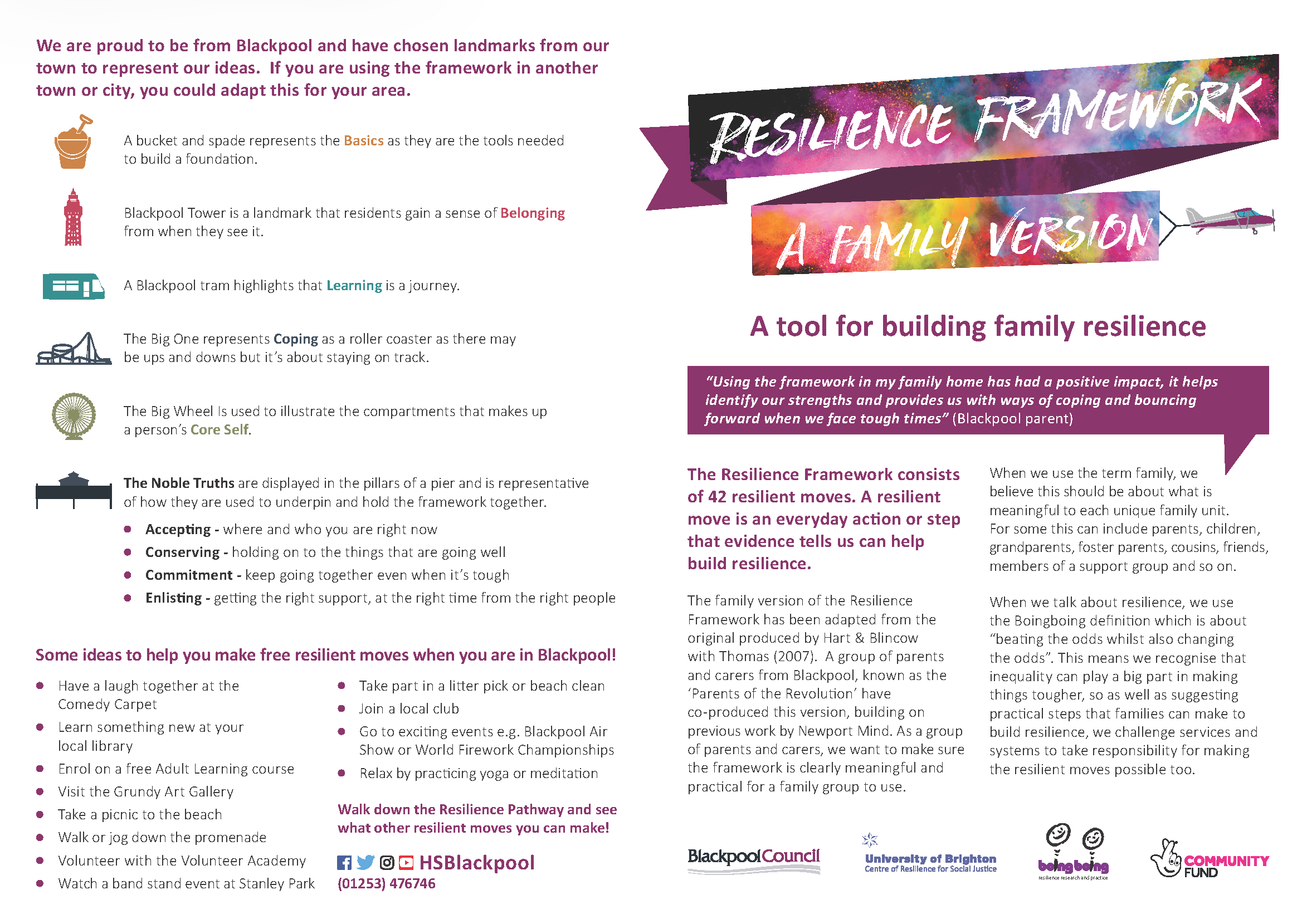 Family Resilience Framework Information